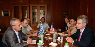 Συνάντηση ΑΝΥΕΘΑ Παναγιώτη Ρήγα με Πρέσβη ΗΠΑ